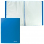 Папка файловая Brauberg Бюджет синяя, А4, на 80 файлов