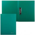 Пластиковая папка с зажимом Brauberg зеленая, А4, 221627