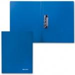 Пластиковая папка с зажимом Brauberg синяя, А4, 221629