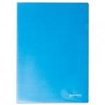 Папка-уголок Brauberg, A4, 150мкм, синяя