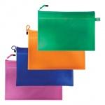Пластиковая папка на молнии Brauberg Energy ассорти, А4