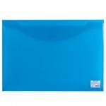 Папка-конверт на кнопке Brauberg синяя, А3, 224034