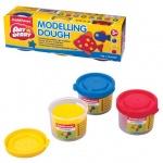 Пластичная масса для моделирования и лепки Erich Krause Artberry Modelling dough 3 цвета по 35г, 327