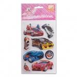Наклейки декоративные детские Action Автосалон, 11.5х18см, объемные