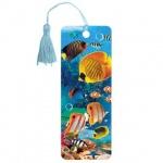 Закладка для книг Brauberg Экзотические рыбки, объемная с движением, шнурок-завязка
