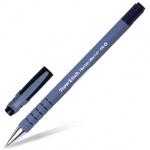 Ручка шариковая Paper Mate Flexgrip Ultra Capped черная, 0.8мм, серо-черный корпус, S0190053