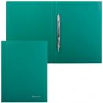 Скоросшиватель пластиковый Brauberg Стандарт зеленый, А4