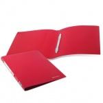 Скоросшиватель пластиковый Brauberg Бюджет, А4, красный