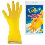 Перчатки латексные Dr.Clean р. M, желтые, 45057