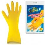 Перчатки латексные Dr.Clean р. L, желтые, 44845