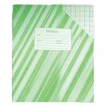 Тетрадь школьная Архбум зеленая, А5, 24 листа, в клетку, на скрепке, бумага