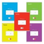 Тетрадь школьная Brauberg Классика ассорти, А5, 18 листов, в линейку, на скрепке, мелованный картон