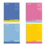 Тетрадь общая Brauberg One Color, А5, 48 листов, в клетку, на скрепке, мелованный картон