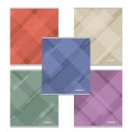 Тетрадь общая Полиграфика Soft Line, А5, 48 листов, в клетку, на скрепке, мелованный картон
