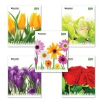Тетрадь общая Brauberg Blossom, А5, 96 листов, в клетку, на скрепке, мелованный картон