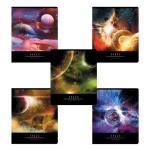 Тетрадь общая Полиграфика Вселенная, А5, 96 листов, в клетку, на скрепке, мелованный картон