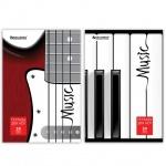 Тетрадь для нот Brauberg Музыка, А4, 24 листа, вертикальная, на скрепке, мелованный картон