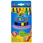 Фломастеры Carioca Jumbo 6 цветов, утолщенные, смываемые, 6