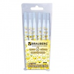 Фломастеры Brauberg Smiles 6 цветов, смываемые