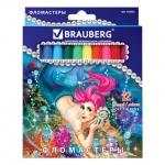 Фломастеры Brauberg Ocean Love, смываемые, 12 цветов