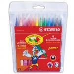 Фломастеры Stabilo Power 12 цветов, смываемые