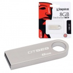 Флеш-накопитель Kingston DataTraveler SE9 8Gb, 10/5 мб/с, серебристый