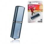 Флеш-накопитель Silicon Power Luxmini 720 8Gb, 10/5 мб/с, синий