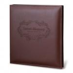 Фотоальбом магнитный Brauberg коричневый, 20 листов, 23х28см