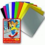 Цветной картон Пифагор 10 цветов, А4, 10 листов, Волшебный Лисенок на скейте