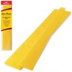 Бумага крепированная Brauberg, 50х200см, 25г/м, растяжение до 65%, желтый