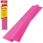 Бумага крепированная Brauberg, 50х200см, 25г/м, растяжение до 65%, розовый