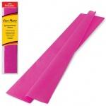 Бумага крепированная Brauberg, 50х200см, 25г/м, растяжение до 65%, темно-розовый