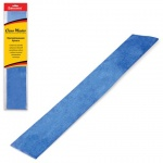 Бумага крепированная Brauberg синяя, 50х100см, 50г/м, растяжение до 35%, металлик