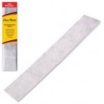 Бумага крепированная Brauberg, 50х100см, 50г/м, растяжение до 35%, металлик, серебро