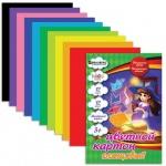 Цветной картон Brauberg Kids Series 12 цветов, А4, 12 листов, мелованный, Чародейка
