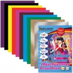 Цветная бумага Brauberg Kids Series 10 цветов, А4, 16 листов, двухсторонняя, Ангел роз