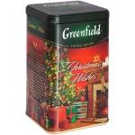 Чай Greenfield, черный, листовой, ж/б, 150 г, Кристмас Вишес