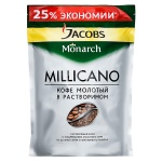 Кофе растворимый Jacobs Monarch Millicano 280г, пакет