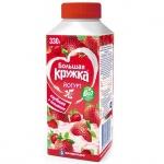 Йогурт питьевой Большая Кружка 2.5%, 330г, малина/банан