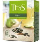 Чай Tess Lime (Лайм), зеленый, 100 пакетиков