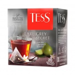 Чай Tess Earl Grey Secret (Эрл Грей Секрет), черный, в пирамидках, 20 пакетиков