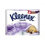 Туалетная бумага Kleenex Premium Comfort без аромата, белая, 4 слоя, 4 рулона, 140 листов, 16м