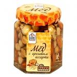 Мед Fine Food с ореховым ассорти, 225г