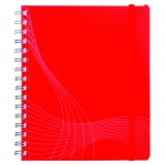 Блокнот Avery Zweckform Notizio Standard, 90г/м2, 90 листов, А5, в линейку, сатин, на спирали, красный