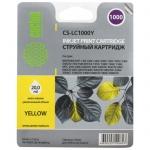 Картридж струйный Cactus CS-LC1000Y, желтый, 22.6мл