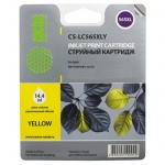 Картридж струйный Cactus CS-LC565XLY, желтый, 14.4мл