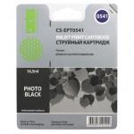 Картридж струйный Cactus CS-EPT0541, черный, 16.2мл