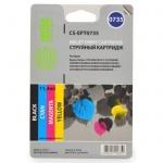 Картридж струйный Cactus CS-EPT0735, 4 цвета, 11.4мл