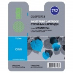 Картридж струйный Cactus CS-EPT0732, голубой, 11мл