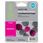 Картридж струйный Cactus CS-CZ111AE №655, 6 мл, пурпурный